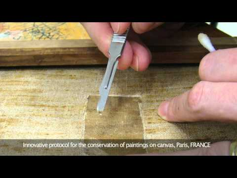 Innovative protocol for the conservation of paintings on canvas, Paris, FRANCE
