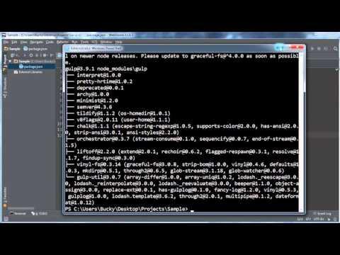 Gulp (Gulp.js) Tutorial for Beginners - 2 - Setting Up a Project