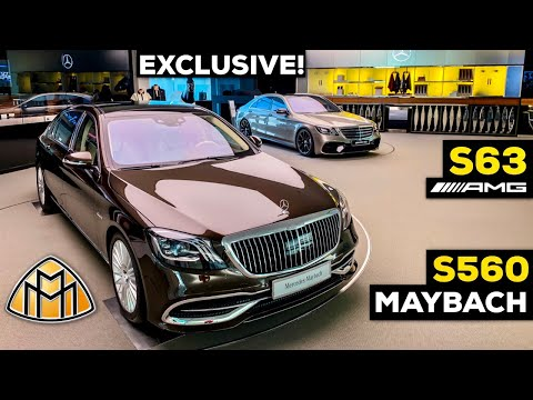 2019 MERCEDES AMG S63 V8 BRUTAL MAYBACH S560 FULL Review VIP CENTER OF EXCELLENCE Showroom Germany