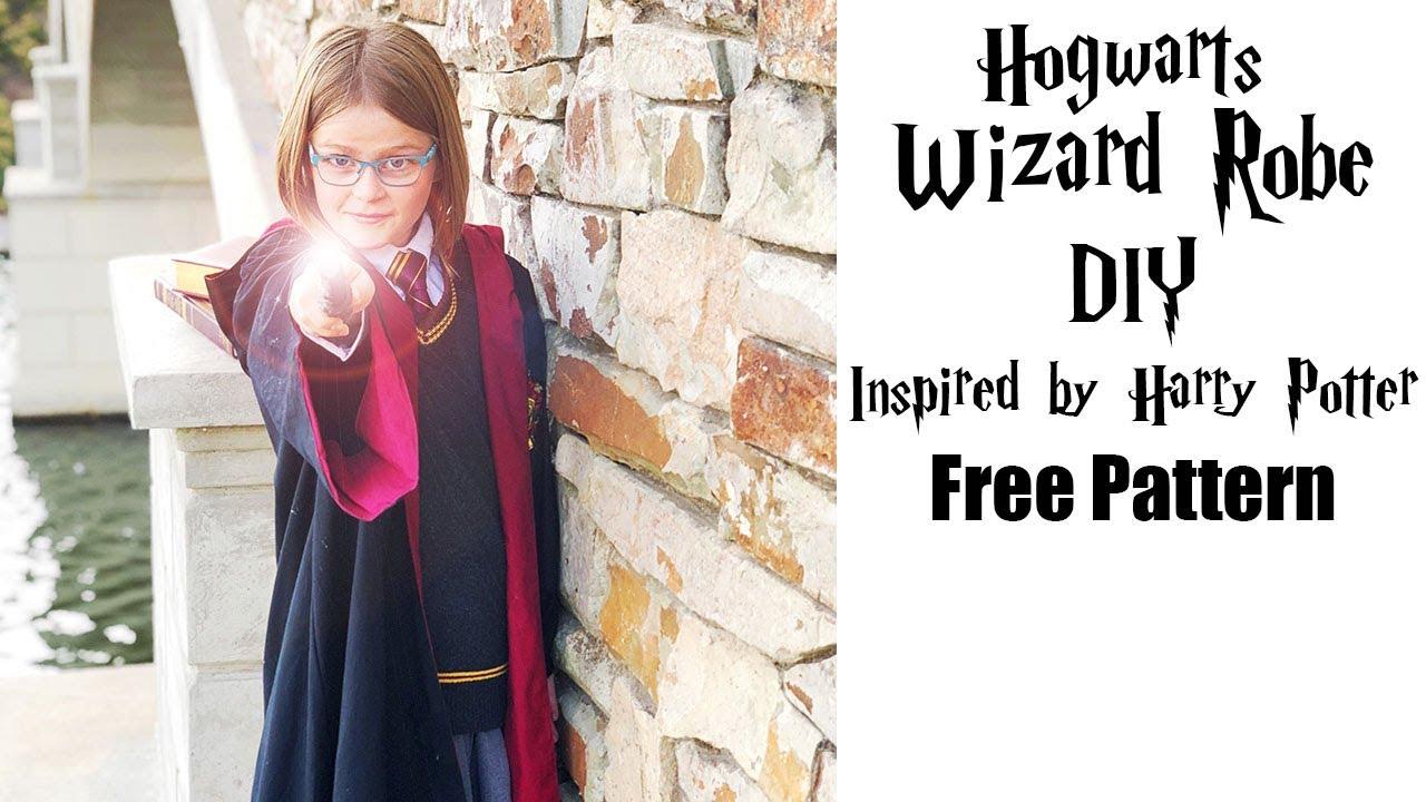 Hogwarts Wizard Robe DIY (FREE pattern) - YouTube 1d6034447