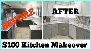 $100 DIY KITCHEN MAKEOVER | How To Transform Your Kitchen Step By Step | Momma From Scratch