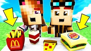 INDOVINA IL CIBO SU MINECRAFT! MCDONALD'S o BURGER KING?!