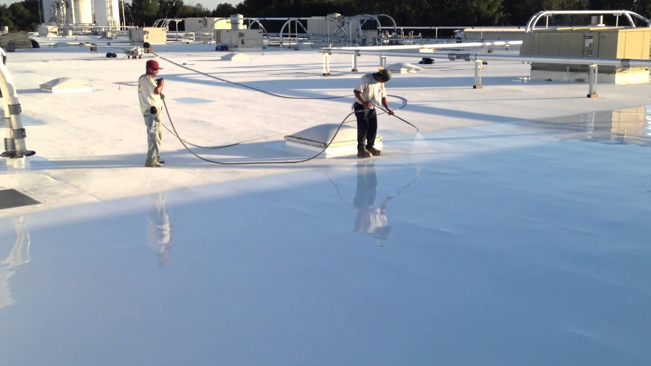 silicone roof coating restoration progressive materials youtube