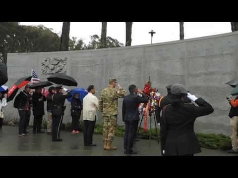 Wreath Laying Ceremony - Bataan Death March Anniversary