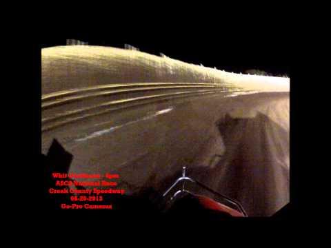 Whit Gastineau 4pm - ASCS National Tour - Creek County Speedway 06-20-2013 Heat 5