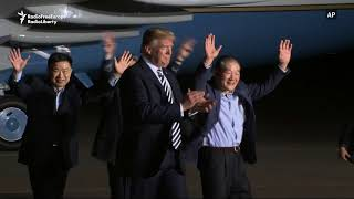 Trump Welcomes Americans Freed By North Korea