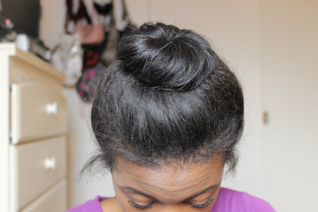 Messy Bun For Short Medium Hair Without A Donut