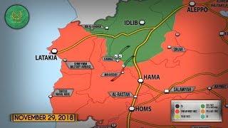 30 ноября 2018. Военная обстановка в Сирии. Россия заявила о 15 000 боевиках в Идлибе.
