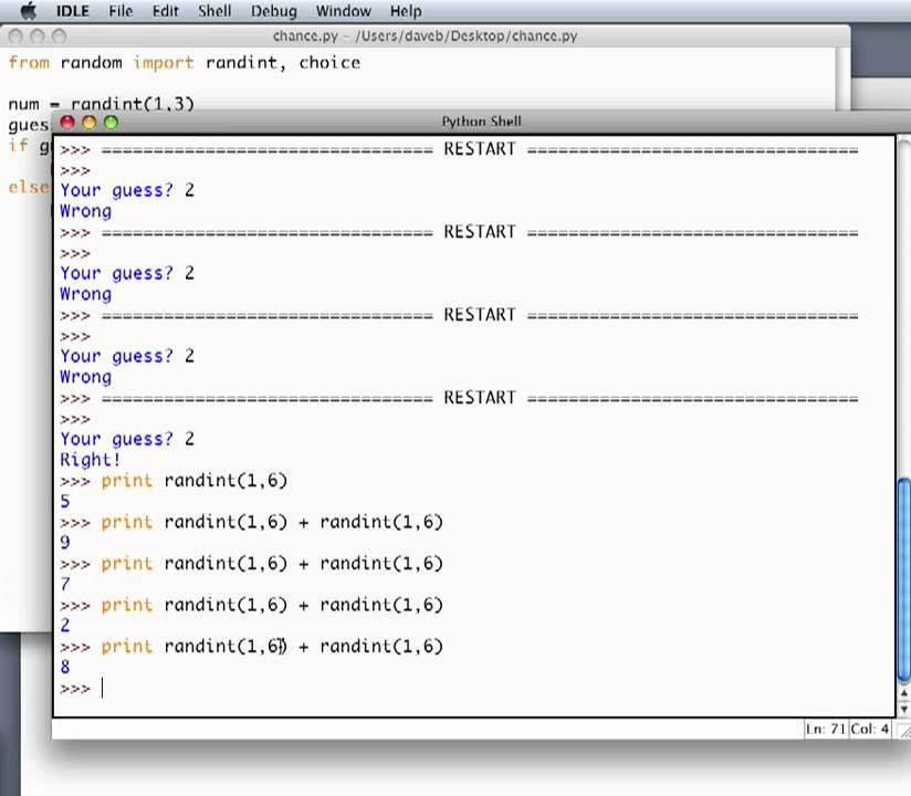 writing a random number generator in python