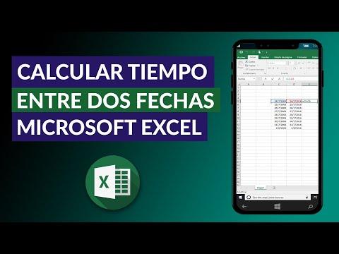 Cómo Calcular Tiempo, Años, Meses, Días, Horas, Minutos y Segundos entre dos Fechas en Excel