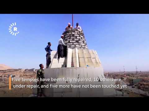 Let ISIS see we do not die': Yezidis repair their temples