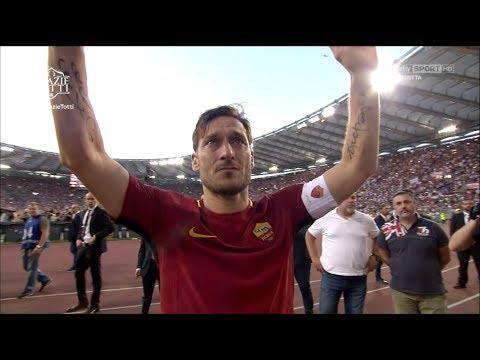 Totti da l'addio al calcio - Giro di campo e discorso - Sky Sport HD