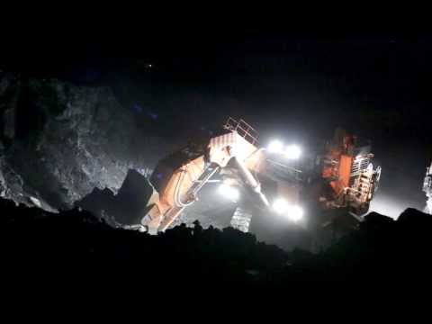 Hitachi EX3600-6 mining excavators at Kumtor Mine, Kyrgyzstan -HD-