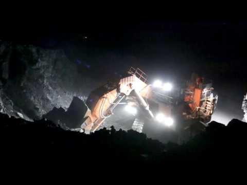 Hitachi EX3600-6 mining excavators at Kumtor Mine, Kyrgyzstan -HD-