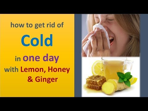 how to get rid of cold in one day with Lemon, Honey & Ginger