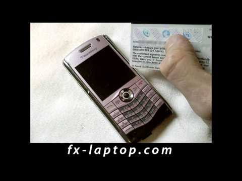 Disassembly BlackBerry Pearl 8110 - Battery Glass Screen Replacement
