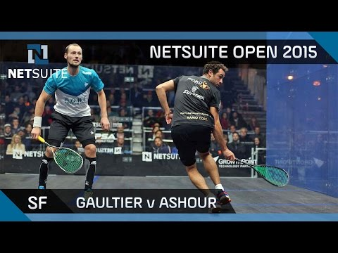 Squash: NetSuite Open 2015 Semi-Final Highlights - Gaultier v Ashour
