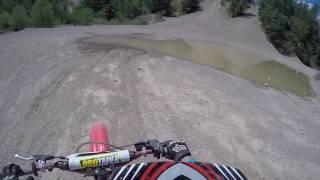 Kids do some crazy hill climbs on dirt bikes!