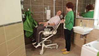 Heron Toilet and Bathing Chair for Adults - Achieving a Safe Working Height for Carers by R82 UK