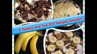 3 Yummy and Fun DIY Banana Snacks!! Thumbnail