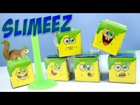 SpongeBob Squarepants Toys Slimeez Mystery Figures 20th Anniversary