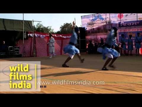 Young Sikh boys perform Gatka dance - Punjab