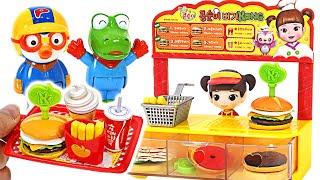 Welcome to Kongsuni's Mini Hamburger Shop~ Let's eat delicious Hamburgers with Pinkfong, Pororo!
