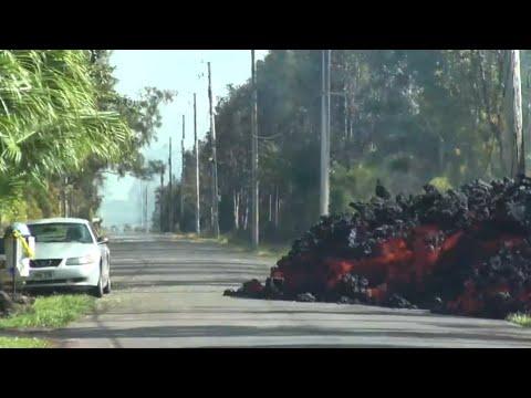 Lava Devours An Entire Car