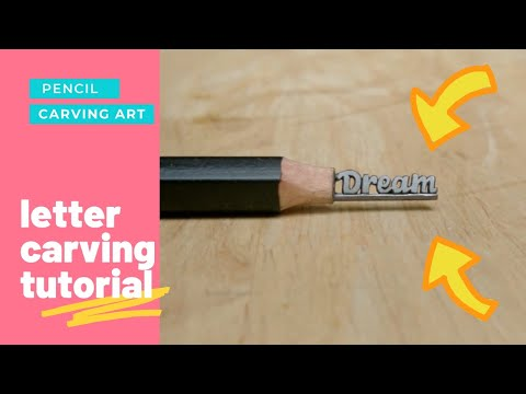 Pencil lead carving art carving text dream on lead youtube