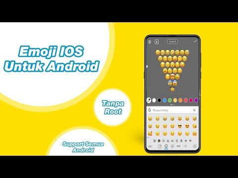 Cara Mengubah Emoji Android Jadi Emoji IOS 12 Support Semua Android
