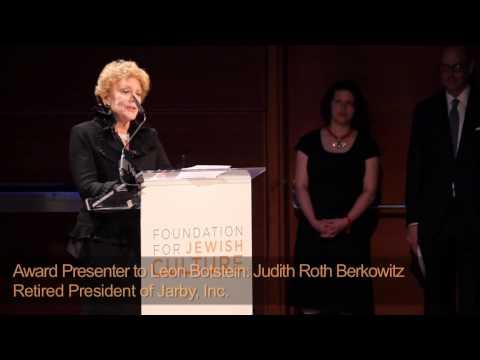 Jewish Cultural Achievement Awards Gala - Foundation for Jewish Culture