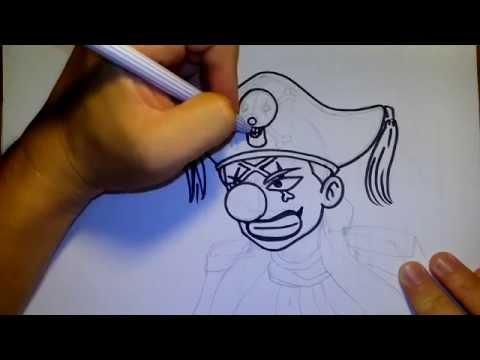 วาดการ์ตูน กันเถอะ สอนวาดรูป การ์ตูน โจรสลัด ตัวตลกบากี้ buggy จาก วันพีช