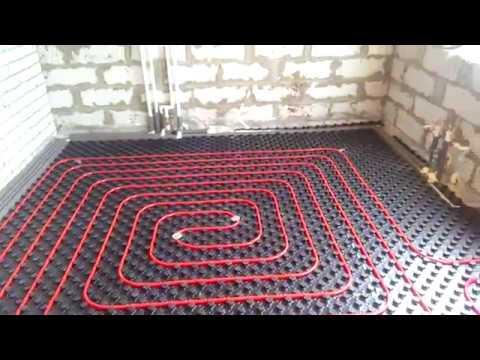 #Комбинированная система отопления, #теплый пол и радиаторы #внутрипольный конвектор