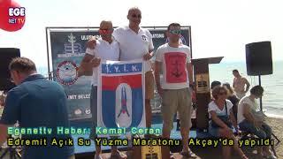 Edremit Açık Su Yüzme Maratonu  Akçay'da yapıldı
