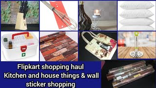 Flipkart shopping haul //Kitchenware and wall stickers shopping haul//online shopping