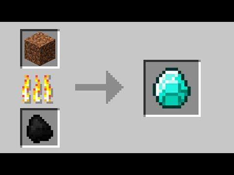 Как сделать алмаз из майнкрафта