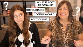 Asking my Mom Awkward Questions Teens are Afraid to Ask!