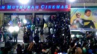 Bairavaa FDFS Celebration And Fans Reaction In Nellai RAM Cinemas