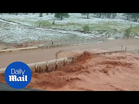 Heavy rains cause severe flooding on roads in southern Colorado