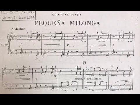 Pequeña Milonga - Sebastián Piana