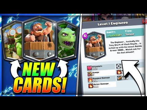 Three NEW Legendary Cards!! [Ideas] New 'Engineer' Card In Clash Royale Is...