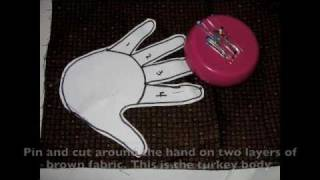 How To Sew A Hand Print Turkey For Thanksgiving- Inocent Art