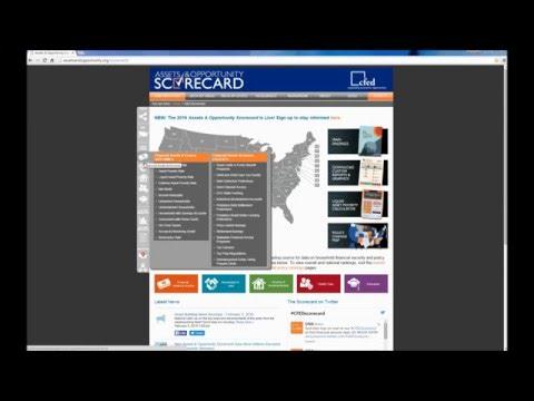 2016 Assets & Opportunity Scorecard Walkthrough