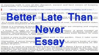 Better late than never essay ap biology free response essays