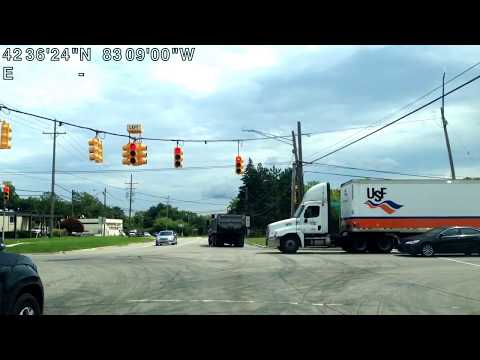 Driving from Bloomfield, Michigan to Shelby Township, Michigan