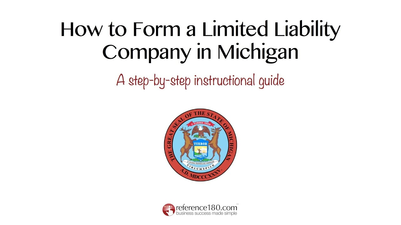 How to Form an LLC in Michigan - YouTube