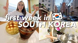FIRST WEEK LIVING IN SOUTH KOREA | week in my life vlog