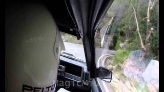 Group B Ford RS 200 S Acceleration on rallye stage