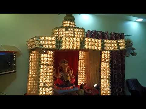 Paper Egg Tray - Ganpati Bappa Decoration 2017