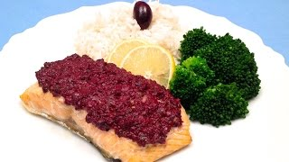 How To Make A Baked Salmon With Olive Tapenade In One Minute (hd)